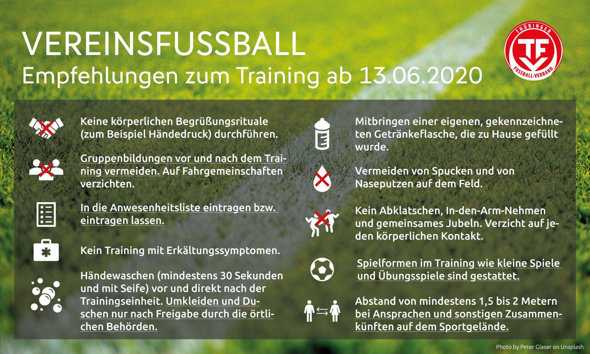 TFV-Empfehlungen Fußballtraining